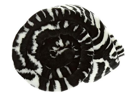 Decorative faux fur blanket ZEBRA 150x200 cm