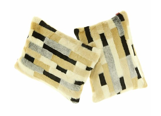 Faux fur pillow EGYPTIAN BEAUTY beige 40x50 cm