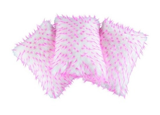 Faux fur pillow HEDGEHOG white 40x50 cm