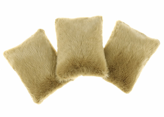 Faux fur pillow SHAGGY beige 40x50 cm