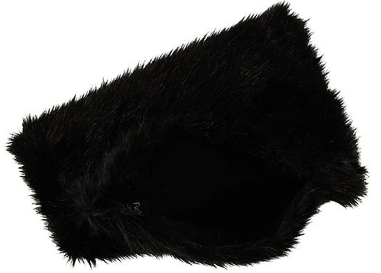 Futrzana poduszka dekoracyjna FOXY czarny 40x50 cm