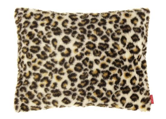 Futrzana poduszka dekoracyjna OCELOT kremowy 40x50 cm