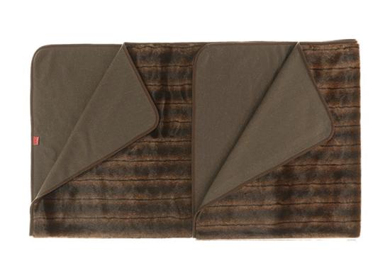 Koc, narzuta na łóżko, kanapę ROMANTYCZNA BRUNETKA brązowy 155x200 cm