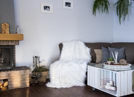 Decorative Faux Fur Set, bedspread LUMA and Two Pillows LUMA