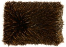 Decorative faux fur pillow TANUKI