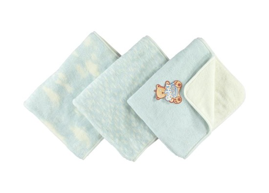 BLUE BABY BLANKET clouds