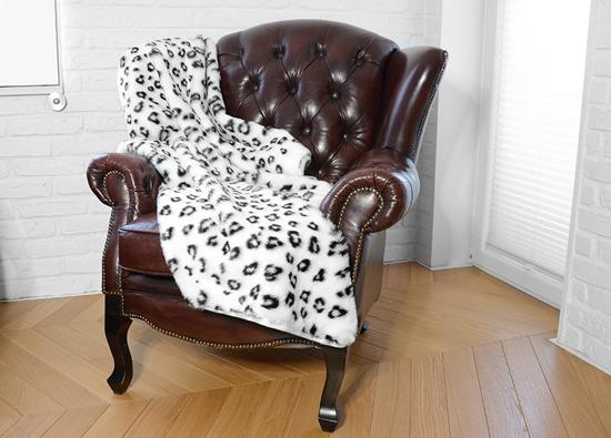 Decorative faux fur bedspread OCELOT