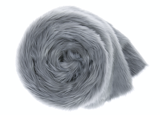 Decorative fur bedspread, blanket MARENGO gray 155x200 cm