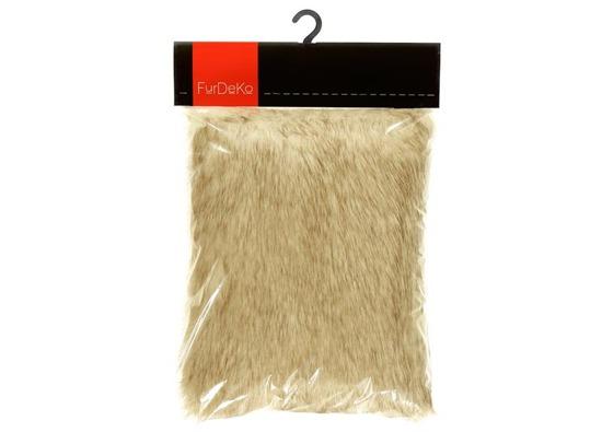 Faux fur pillow FOXY beige 40x50 cm