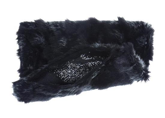 Faux fur pillow GOAT black 40x50 cm