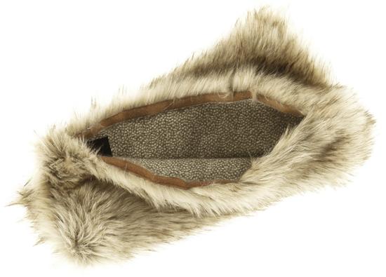 Faux fur pillow GRANDE PINI beige 40x50 cm