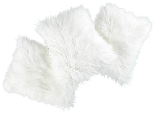 Faux fur pillow LUMA white 40x50 cm