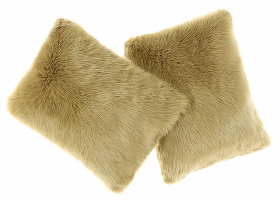 Faux fur pillow SHAGGY beige 40x50 cm