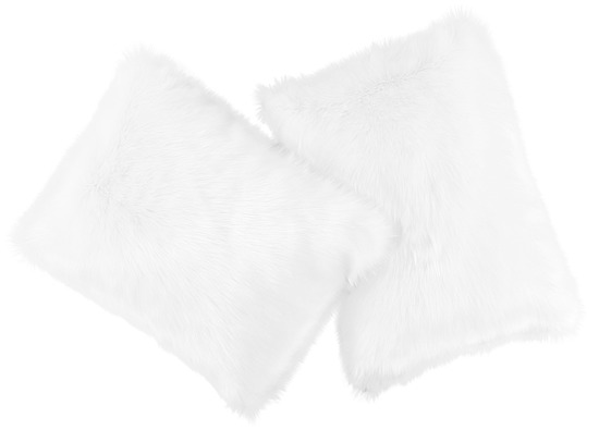 Faux fur pillow SHAGGY white 40x50 cm