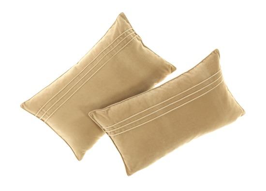 Velvet pillow JULIA beige 30x50 cm