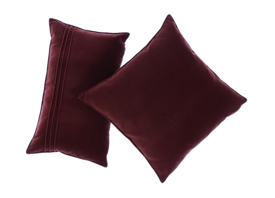 Velvet pillow JULIA claret 30x50 cm