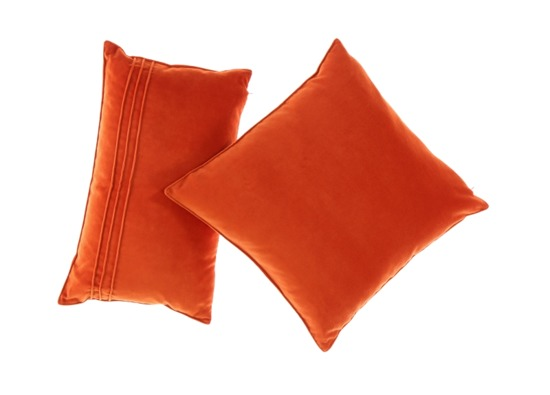 Velvet pillow ROMEO orange 45x45 cm