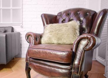 Decorative faux fur pillow GRANDE PINI beige