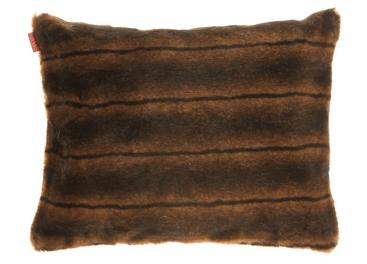 Decorative faux fur pillow ROMANTIC BRUNETTE