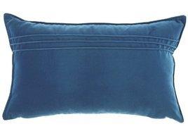 Poduszka Niebieska dekoracyjna z aksamitu JULIA