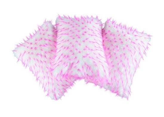 Futrzana poduszka dekoracyjna JEŻYK biały 40x50 cm