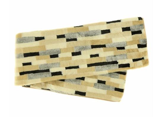 Narzuta dekoracyjna z futra EGIPSKA PIĘKNOŚĆ