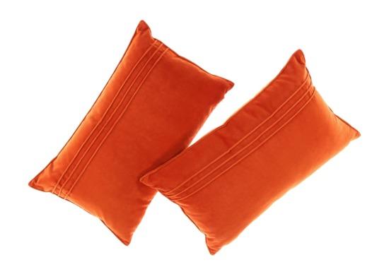 PODUSZKA Z AKSAMITU pomarańczowy 30x50 cm