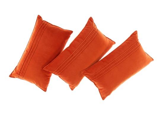 Poduszka z aksamitu JULIA pomarańczowy 30x50 cm