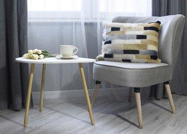 Futrzana poduszka dekoracyjna EGIPSKA PIĘKNOŚĆ beżowy 40x50 cm